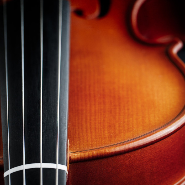 Whirled close-up photograph of violin